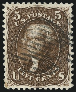Sale Number 1034, Lot Number 86, 1861-66 Issue (Scott 62B-78)5c Red Brown (75), 5c Red Brown (75)