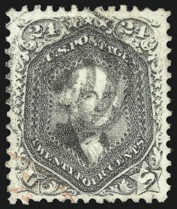 Sale Number 1034, Lot Number 89, 1861-66 Issue (Scott 62B-78)24c Lilac (78), 24c Lilac (78)