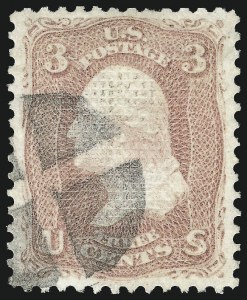 Sale Number 1034, Lot Number 91, 1867-68 Grilled Issue (Scott 79-101)3c Rose, C. Grill (83), 3c Rose, C. Grill (83)