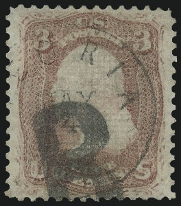 Sale Number 1034, Lot Number 94, 1867-68 Grilled Issue (Scott 79-101)3c Rose, Z. Grill (85C), 3c Rose, Z. Grill (85C)