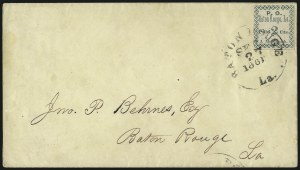 Sale Number 1035, Lot Number 12, Baton Rouge La., 2c Green (11X1)