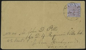 Sale Number 1035, Lot Number 91, Uniontown Ala., 10c Red on Gray Blue (86X5)