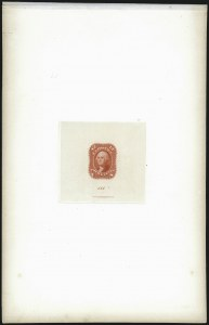 Sale Number 1037, Lot Number 1052, Essays and Proofs (1861-66 Issue)12c Scarlet, First Design, Die Essay on India (69-E6a; formerly 59TC1), 12c Scarlet, First Design, Die Essay on India (69-E6a; formerly 59TC1)