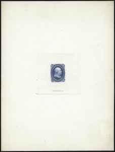 Sale Number 1037, Lot Number 1064, Essays and Proofs (1861-66 Issue)1c Blue, Large Die Proof on India (63P1), 1c Blue, Large Die Proof on India (63P1)