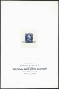 Sale Number 1037, Lot Number 1065, Essays and Proofs (1861-66 Issue)1c Blue, Large Die Proof on India, Specimen Overprint (63P1 var), 1c Blue, Large Die Proof on India, Specimen Overprint (63P1 var)