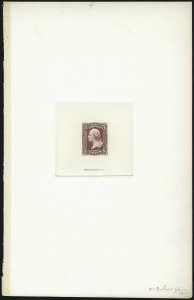Sale Number 1037, Lot Number 1069, Essays and Proofs (1861-66 Issue)3c Dark Rose, Large Die Trial Color Proof on India (65TC1a), 3c Dark Rose, Large Die Trial Color Proof on India (65TC1a)