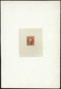 Sale Number 1037, Lot Number 1070, Essays and Proofs (1861-66 Issue)10c Orange, Large Die Trial Color Proof on India (68TC1a), 10c Orange, Large Die Trial Color Proof on India (68TC1a)