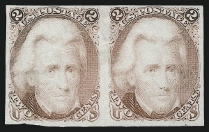 Sale Number 1037, Lot Number 1076, Essays and Proofs (1861-66 Issue)2c Dull Rose, Trial Color Plate Proof on India (73TC3), 2c Dull Rose, Trial Color Plate Proof on India (73TC3)