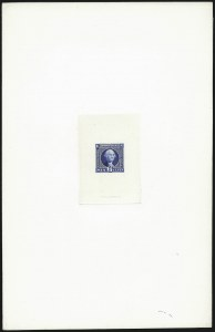 Sale Number 1037, Lot Number 1129, Essays and Proofs (1869 Pictorial Issue)6c Deep Dull Blue, Large Die Trial Color Proof on India (115TC1), 6c Deep Dull Blue, Large Die Trial Color Proof on India (115TC1)