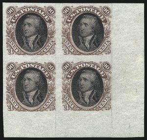 Sale Number 1037, Lot Number 1145, Essays and Proofs (1869 Pictorial Issue)90c Red Brown & Black, Washington, Plate Essay on Stamp Paper (122-E2b), 90c Red Brown & Black, Washington, Plate Essay on Stamp Paper (122-E2b)