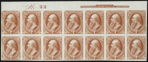 Sale Number 1037, Lot Number 1156, Essays and Proofs (1870-88 Bank Note Issues)7c Orange Vermillion, Plate Proof on India (160P3), 7c Orange Vermillion, Plate Proof on India (160P3)