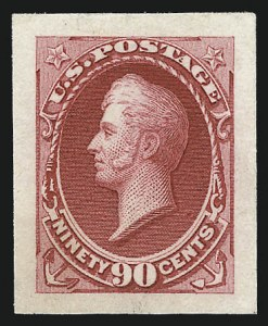 Sale Number 1037, Lot Number 1165, Essays and Proofs (1870-88 Bank Note Issues)90c Rose Carmine, Panama-Pacific Small Die Proof on Wove (166P2a), 90c Rose Carmine, Panama-Pacific Small Die Proof on Wove (166P2a)