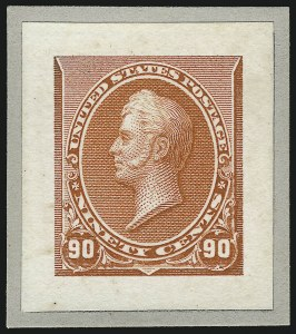 Sale Number 1037, Lot Number 1193, Essays and Proofs (1890 Issue thru Columbian Issue)1c-90c 1890-93 Issue, Small Die Proofs on Wove (219P2, 220P2-229P2), 1c-90c 1890-93 Issue, Small Die Proofs on Wove (219P2, 220P2-229P2)