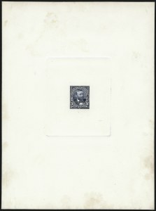 Sale Number 1037, Lot Number 1224, Essays and Proofs (1894 Bureau Issue thru Louisiana Purchase )5c Dark Blue, Large Die Proof on Card (281P1), 5c Dark Blue, Large Die Proof on Card (281P1)