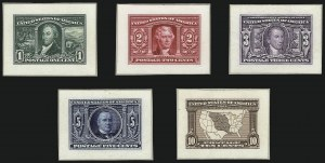 Sale Number 1037, Lot Number 1234, Essays and Proofs (1894 Bureau Issue thru Louisiana Purchase )1c-10c Louisiana Purchase, Small Die Proofs on Wove (323P2-327P2), 1c-10c Louisiana Purchase, Small Die Proofs on Wove (323P2-327P2)