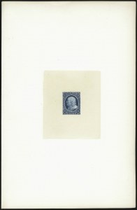 Sale Number 1037, Lot Number 1301, Essays and Proofs (Newspapers and Periodicals)(1c) Franklin Carrier, Large Die Proof on India (LO1P1), (1c) Franklin Carrier, Large Die Proof on India (LO1P1)