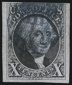 Sale Number 1037, Lot Number 1376, 5c 1847 Issue and 1875 Reproduction of 1847 Issue (Scott 1-4)10c Black (2), 10c Black (2)