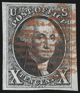 Sale Number 1037, Lot Number 1378, 5c 1847 Issue and 1875 Reproduction of 1847 Issue (Scott 1-4)10c Black (2), 10c Black (2)