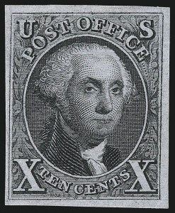 Sale Number 1037, Lot Number 1390, 5c 1847 Issue and 1875 Reproduction of 1847 Issue (Scott 1-4)10c Black, Reproduction (4), 10c Black, Reproduction (4)