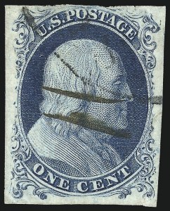 Sale Number 1037, Lot Number 1399, 1c 1851-56 Issue (Scott 5-9)1c Blue, Ty. Ic (6b), 1c Blue, Ty. Ic (6b)