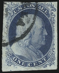 Sale Number 1037, Lot Number 1409, 1c 1851-56 Issue (Scott 5-9)1c Blue, Ty. III (8), 1c Blue, Ty. III (8)