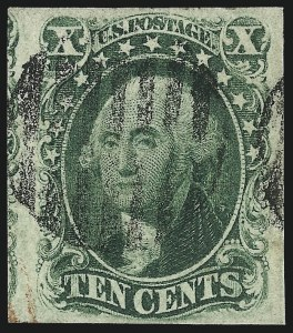 Sale Number 1037, Lot Number 1443, 3c-12c 1851-56 Issue (Scott 10-17)10c Green, Ty. IV (16), 10c Green, Ty. IV (16)