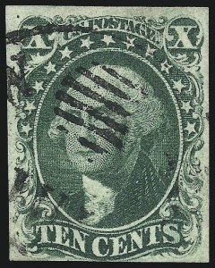 Sale Number 1037, Lot Number 1444, 3c-12c 1851-56 Issue (Scott 10-17)10c Green, Ty. IV (16), 10c Green, Ty. IV (16)