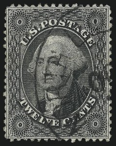 Sale Number 1037, Lot Number 1497, 3c-90c 1857-60 Issue (Scott 26-39)12c Black, Plate 1 (36), 12c Black, Plate 1 (36)
