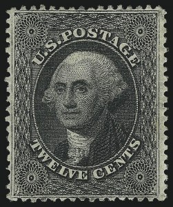 Sale Number 1037, Lot Number 1499, 3c-90c 1857-60 Issue (Scott 26-39)12c Black, Plate 3 (36B), 12c Black, Plate 3 (36B)
