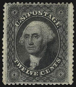 Sale Number 1037, Lot Number 1500, 3c-90c 1857-60 Issue (Scott 26-39)12c Black, Plate 3 (36B), 12c Black, Plate 3 (36B)