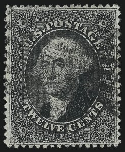Sale Number 1037, Lot Number 1502, 3c-90c 1857-60 Issue (Scott 26-39)12c Black, Plate 3 (36B), 12c Black, Plate 3 (36B)