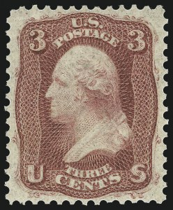 Sale Number 1037, Lot Number 1531, 1861-66 Issue (Scott 56-66)3c Brown Rose, First Design (56), 3c Brown Rose, First Design (56)