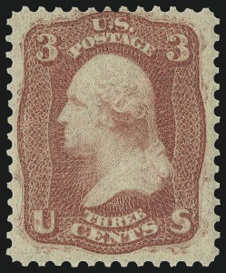 Sale Number 1037, Lot Number 1533, 1861-66 Issue (Scott 56-66)3c Brown Rose, First Design (56), 3c Brown Rose, First Design (56)