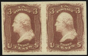 Sale Number 1037, Lot Number 1549, 1861-66 Issue (Scott 56-66)3c Brown Red, Imperforate (65 var), 3c Brown Red, Imperforate (65 var)