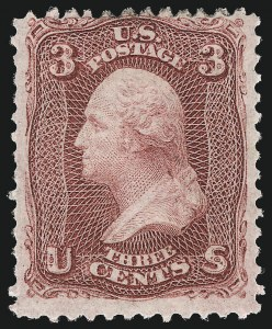 Sale Number 1037, Lot Number 1553, 1861-66 Issue (Scott 56-66)3c Lake (66), 3c Lake (66)