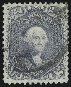 Sale Number 1037, Lot Number 1565, 1861-66 Issue (Scott 67-78c)24c Steel Blue (70b), 24c Steel Blue (70b)