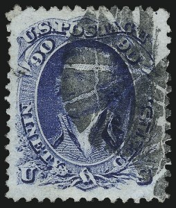 Sale Number 1037, Lot Number 1571, 1861-66 Issue (Scott 67-78c)90c Blue (72), 90c Blue (72)