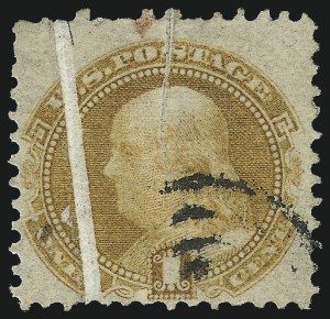Sale Number 1037, Lot Number 1654, 1869 Pictorial Issue (Scott 112-122)1c Buff (112), 1c Buff (112)