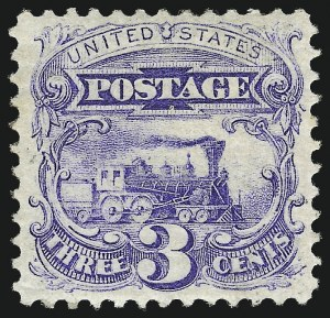 Sale Number 1037, Lot Number 1660, 1869 Pictorial Issue (Scott 112-122)3c Ultramarine, Without Grill (114a), 3c Ultramarine, Without Grill (114a)