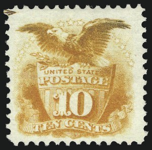 Sale Number 1037, Lot Number 1664, 1869 Pictorial Issue (Scott 112-122)10c Yellow (116), 10c Yellow (116)