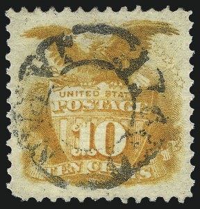 Sale Number 1037, Lot Number 1665, 1869 Pictorial Issue (Scott 112-122)10c Yellow (116), 10c Yellow (116)
