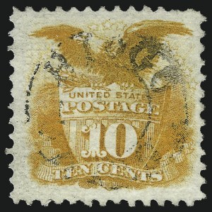 Sale Number 1037, Lot Number 1666, 1869 Pictorial Issue (Scott 112-122)10c Yellow (116), 10c Yellow (116)