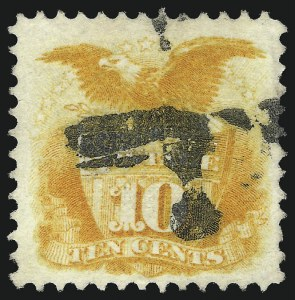 Sale Number 1037, Lot Number 1667, 1869 Pictorial Issue (Scott 112-122)10c Yellow (116), 10c Yellow (116)