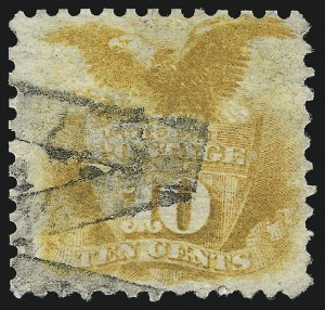 Sale Number 1037, Lot Number 1668, 1869 Pictorial Issue (Scott 112-122)10c Yellow (116), 10c Yellow (116)