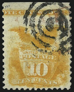 Sale Number 1037, Lot Number 1669, 1869 Pictorial Issue (Scott 112-122)10c Yellow (116), 10c Yellow (116)
