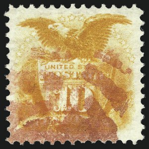 Sale Number 1037, Lot Number 1670, 1869 Pictorial Issue (Scott 112-122)10c Yellow (116), 10c Yellow (116)
