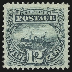 Sale Number 1037, Lot Number 1671, 1869 Pictorial Issue (Scott 112-122)12c Green (117), 12c Green (117)