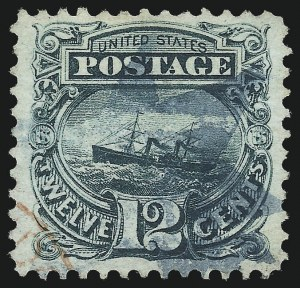 Sale Number 1037, Lot Number 1673, 1869 Pictorial Issue (Scott 112-122)12c Green (117), 12c Green (117)