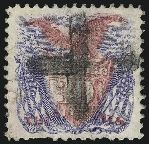 Sale Number 1037, Lot Number 1678, 1869 Pictorial Issue (Scott 112-122)30c Ultramarine & Carmine (121), 30c Ultramarine & Carmine (121)