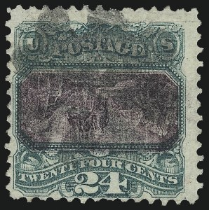 Sale Number 1037, Lot Number 1686, 1869 Pictorial Issue Inverts (Scott 119b-120b)24c Green & Violet, Center Inverted (120b), 24c Green & Violet, Center Inverted (120b)